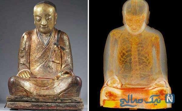مومیایی در قلب مجسمه بودا