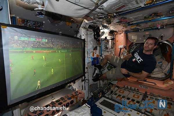 تماشای فوتبال در فضا
