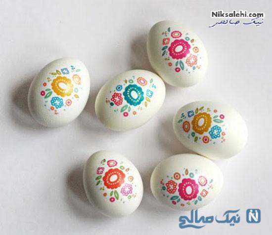 مدل هایی از تزئینات زیبای تخم مرغ برای سفره هفت سین +عکس