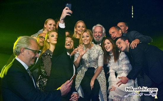 جنیفر لارنس و همکاران مشهورش در افتتاحیه فیلم جدید+عکس