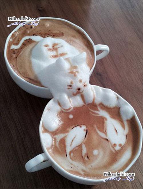 اثرهای خارق العاده هنرمند ژاپنی بر روی قهوه +عکس