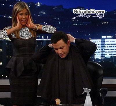 کوتاه کردن موی مجری توسط بازیگر زن مشهور +عکس