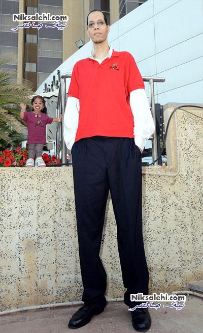 ملاقات دیدنی کوچکترین زن دنیا با بزرگترین مرد دنیا +عکس