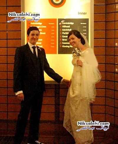 تصاویر یک مراسم عروسی در مترو +عکس