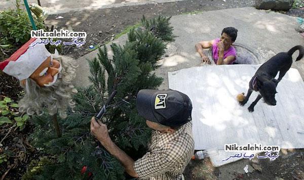 زندگی زوج کلمبیایی در فاضلاب +عکس