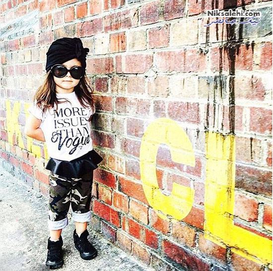 این دختر کوچولو ستاره ی مد در اینستاگرام است! +عکس