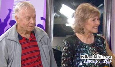 لحظه دیدنی زیباشدن پیرزن ۷۷ ساله و حیرت همسرش +عکس