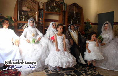 ازدواج زوج عراقی با ۷۰ سال فاصله سنی+عکس