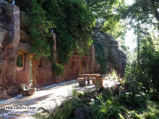 مردی غار را تبدیل به خانه رویایی اش کرد! +عکس