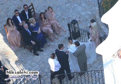 لیدی گاگا در لباس ساقدوشی در عروسی دوستش +عکس