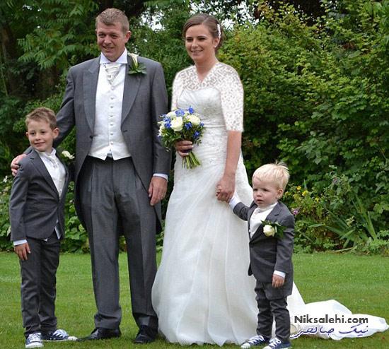 کیک عروسی جالب زوجی که در شکل کیک به تفاهم نرسیدند! +عکس