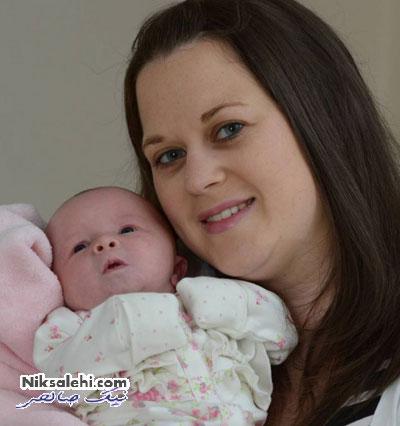 تعجب مادری از به دنیا آمدن نوزادش با شرایط عجیب +عکس