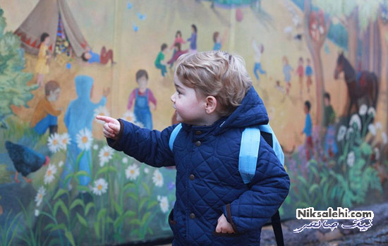اولین روز مهدکودک پسر کیت میدلتون +عکس