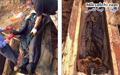 حیرت و سردرگمی همگان از کشف این جسد! +عکس
