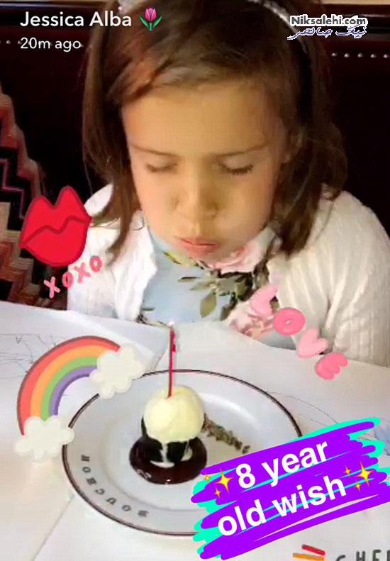 عکسی های منتخب از جشن تولد دختر جسیکا آلبا +عکس