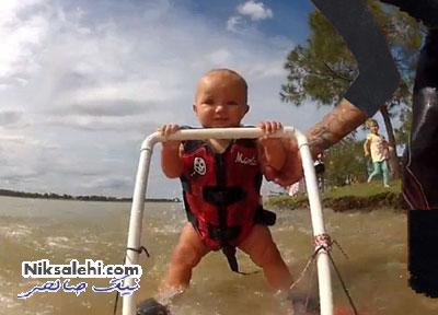 حرکت خارق العاده کودک هفت ماهه +عکس