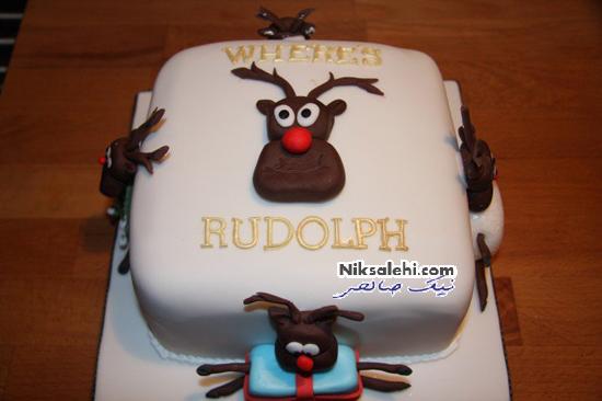 مدل کیک های ابتکاری با تزئین کریسمسی +عکس