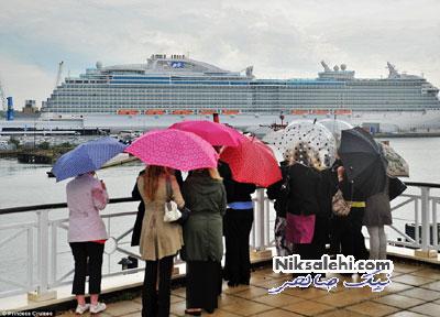 نمایی از داخل کشتی زیبایی که کیت میدلتون نامگذاری کرد+عکس