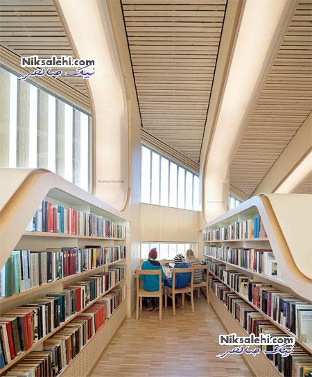 کتابخانه منحصر به فرد مدرن در نروژ + عکس