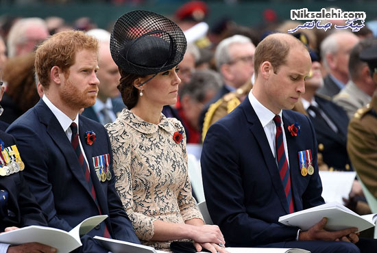 تیپ زیبای کیت میدلتون با پیراهن گیپور در یک مراسم نظامی +عکس