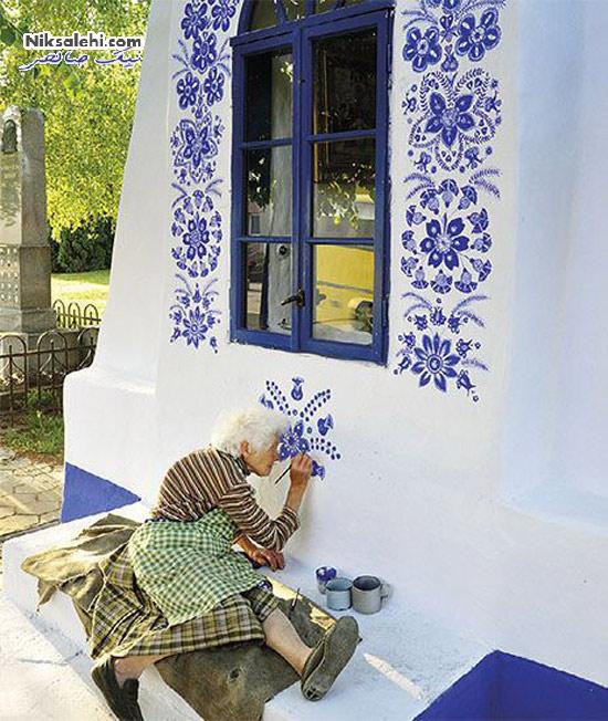 هنر زیبای این خانم ۸۷ ساله دیدنی است! +عکس