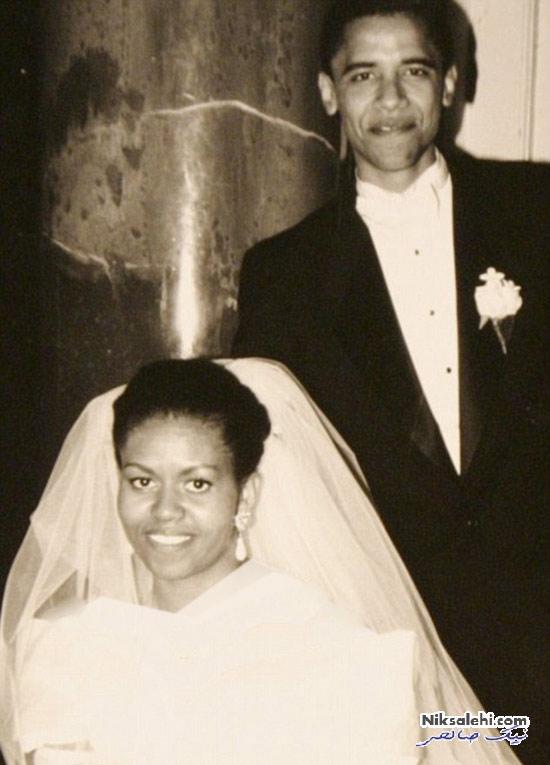 عکسی که اوباما به مناسبت ۲۳امین سالگرد ازدواجش منتشر کرد +عکس