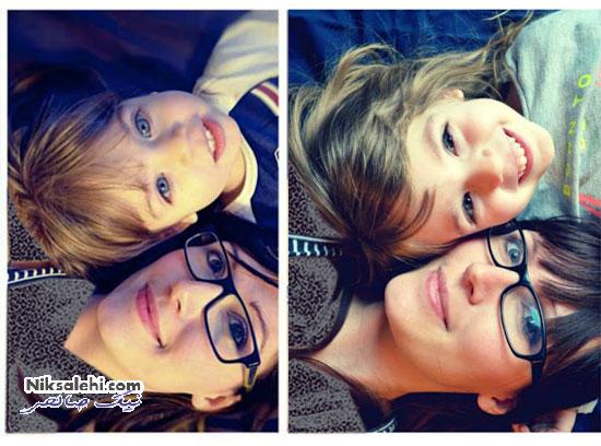 اثرهای هنری زیبا از مادر و دختر چهار ساله اش +عکس
