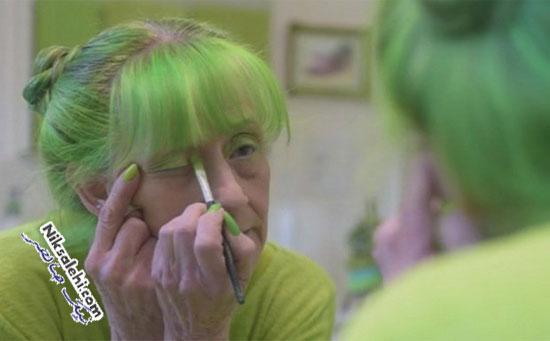 بانوی سبز پوش را بشناسید! +عکس