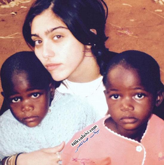 مدونا و دختران دوقلو جدیدش از کشور مالاوی +عکس