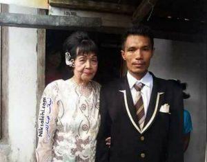 ازدواج بسیار عجیب پسر ۲۸ ساله با مادربزرگ ۸۲ ساله +عکس