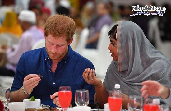 حضور پرنس هری برادر شوهر کیت میدلتون در یک ضیافت افطاری