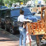 ماشین سواری جنیفر لوپز با نامزد جدید و دوقلوهایش با اتومبیل سفارشی و گرانقیمت