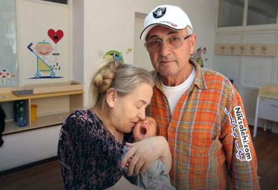 زن ۶۰ ساله پس از بچه دار شدن شوهرش وی را ترک کرد!