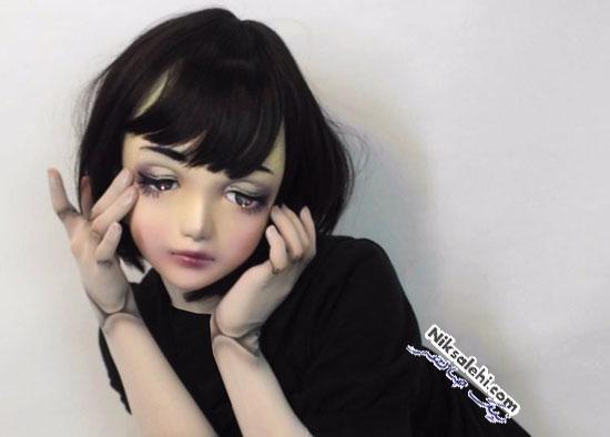 اولین عروسک زنده و مدل ژاپنی با چهره ای عجیب و غیرعادی