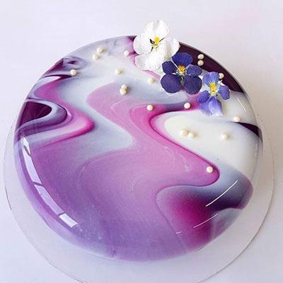 مدل های زیبا از تزئین کیک آینه ای سبک جدید دنیای کیک و شیرینی