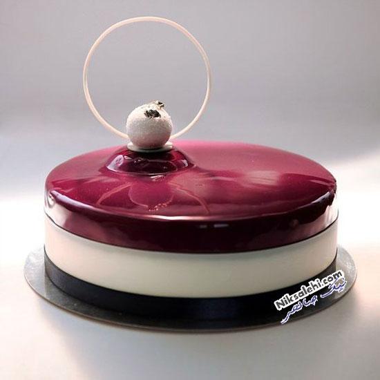 تزئین کیک آینه ای