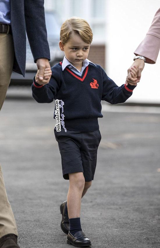 پرنس جورج در روز اول مدرسه