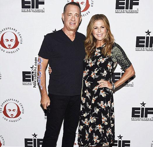 تام هنکس و همسرش
