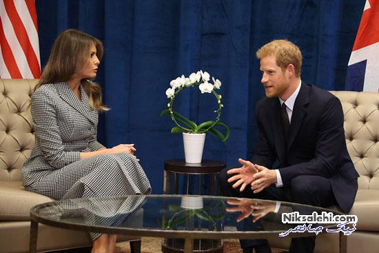 دیدار ملانیا ترامپ با شاهزاده هری