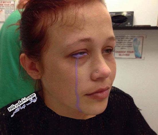 دختری با اشک بنفش