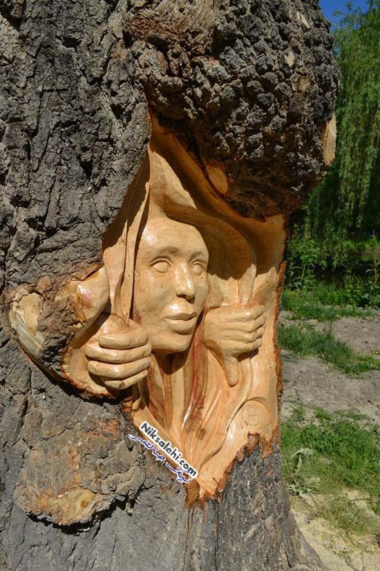 هنر کنده کاری روی چوب