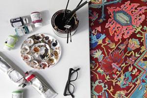 نقاشی های شگفت انگیزی که با فرش های ایرانی مو نمی زنند!
