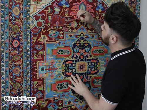 نقاشی فرش های ایرانی