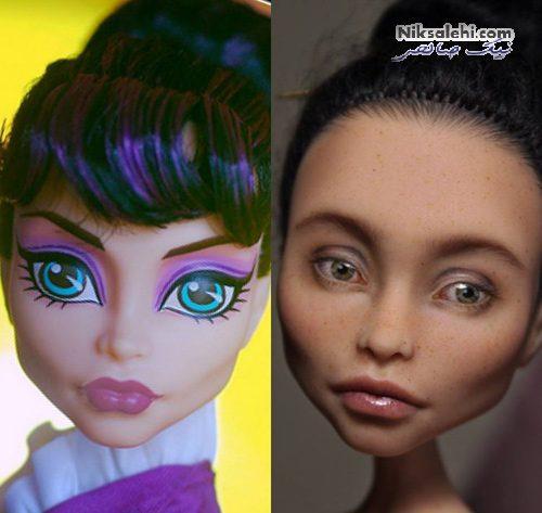 عروسک با چهره واقعی