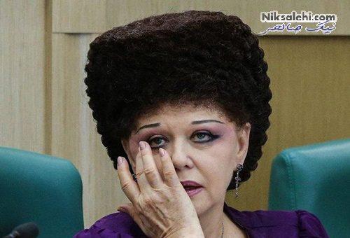 موهای عجیب سناتور روسی