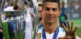 رونالدو در کنار نامزدش در جشن قهرمانی رئال مادرید!