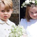 پرنس جورج و پرنسس شارلوت در مراسم عروسی دوست کیت میدلتون