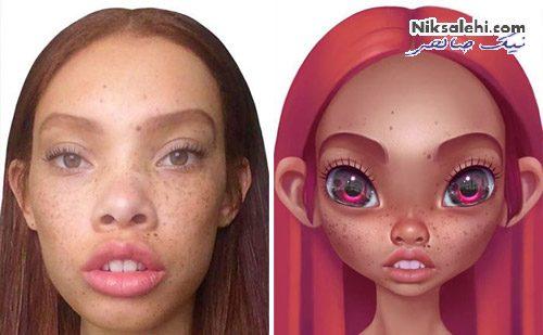 تبدیل چهره به شخصیت کارتونی