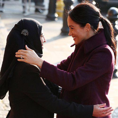 آشپزی کردن مگان مارکل با زنان مسلمان برج گرنفل لندن