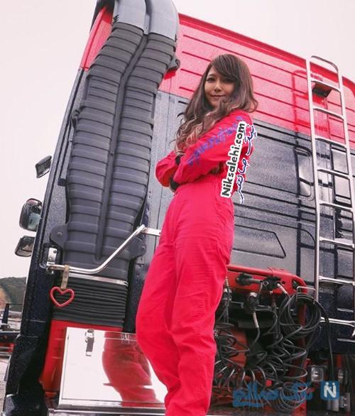 راننده کامیون زن